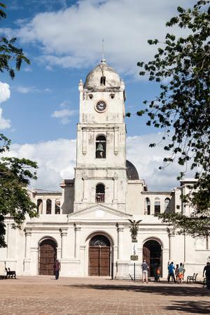 holguin: HOLGUIN, CUBA - JAN 28, 2016: San Jose church in Holguin, Cuba Stock Photo