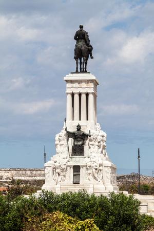 maximo: HAVANA, CUBA - FEB 22, 2016: General Maximo Gomez monument in Havana.