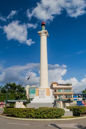 Column of Liberty on Plaza de Marte square in Santiago de Cuba, Cuba