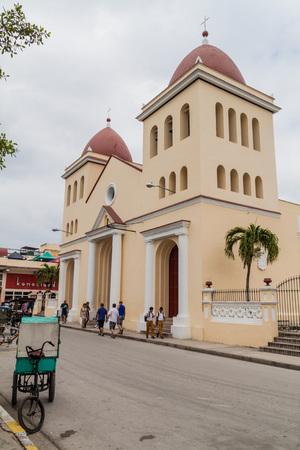 holguin: HOLGUIN,  CUBA - JAN 28, 2016: Cathedral San Isidoro in Holguin. Stock Photo