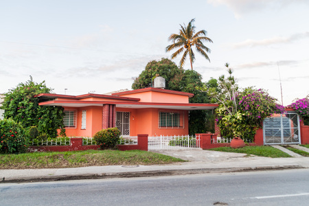 suburbs: House in the suburbs of Camaguey, Cuba Stock Photo