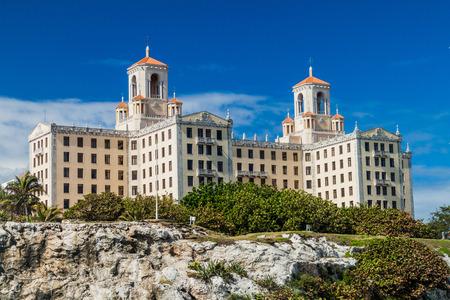 HAVANA, CUBA - FEB 21, 2016: Hotel Nacional de Cuba in Vedado neighborhood of Havana.