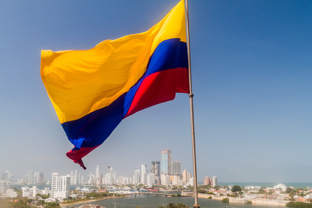 Colombian flag in Cartagena, Colombia