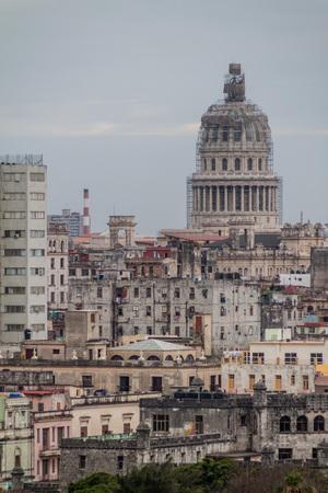 casa colonial: Skyline de La Habana con el Capitolio Nacional, Cuba