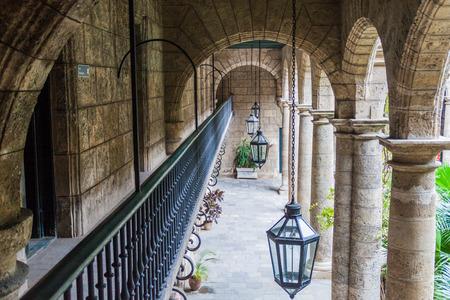 Archway of Palacio de los Capitanes Generales, where City Museum is located, in Old Havana, Cuba.