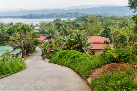 View of Livingston village, Guatemala Foto de archivo