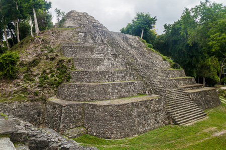 Pyramid at the North Acropolis at the archaeological site Yaxha, Guatemala Editorial