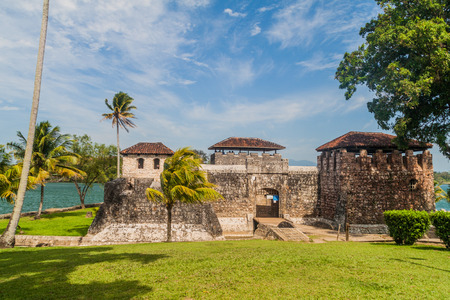 Castillo de San Felipe, Spanish colonial fort at the entrance to Lake Izabal in eastern Guatemala.