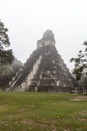 Temple I at the archaelogical site Tikal, Guatemala Stock Photo - 78854925