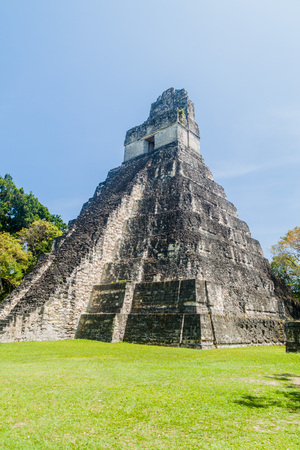 Temple I at the archaeological site Tikal, Guatemala Stock Photo