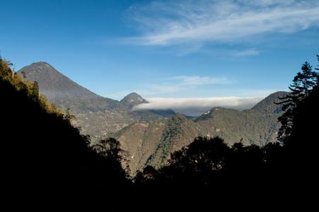 steep: Santa Maria (left) and Cerro de Quemado (right) volcanoes, Guatemala