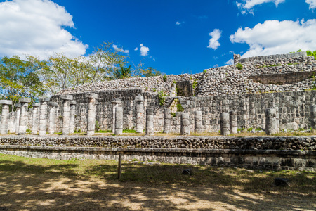 Temple of the Warriors at the archeological site Chichen Itza, Mexico