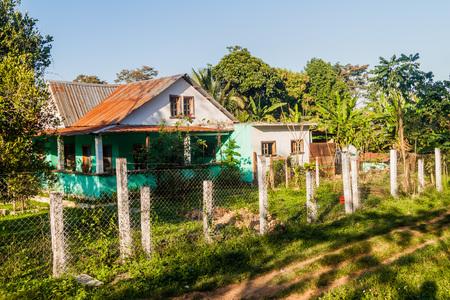 Small house in Raxruha town, Guatemala