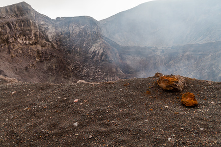 Telica volcano crater, Nicaragua Stock Photo