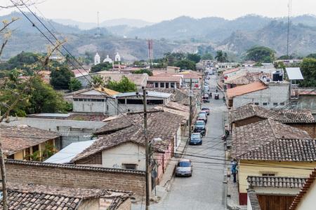 GRACIAS, HONDURAS - APRIL 13, 2016: Aerial view of Gracias town.