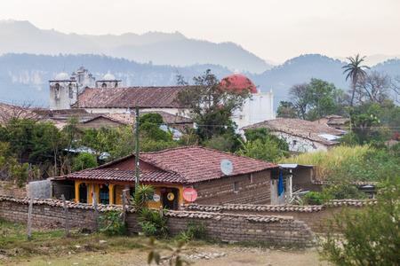 SAN SEBASTIAN, HONDURAS - APRIL 15, 2016: View of San Sebastian village, Honduras