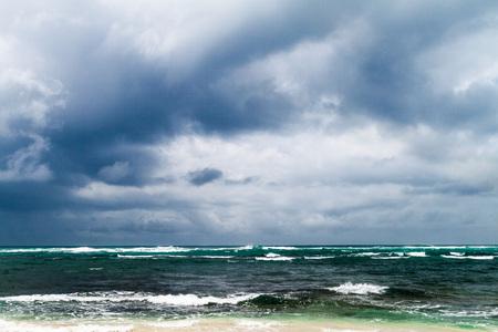 Cloudy sky and a sea