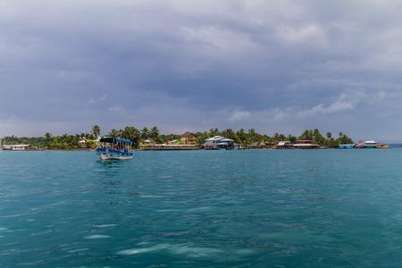 BOCAS DEL TORO, PANAMA - MAY 21, 2016: View of Isla Crenero, part of Bocas del Toro archipelago Editorial