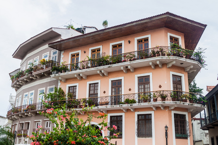 Colonial buildings in Casco Viejo (Historic Center) in Panama City