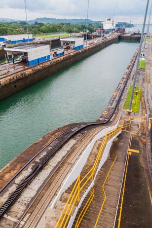 Gatun Locks, part of Panama Canal.