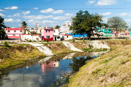 Hatibonico river in Camaguey, Cuba Stock Photo