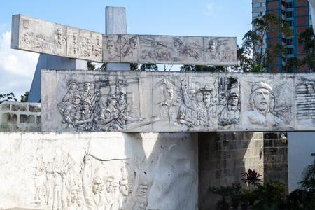 ignacio: CAMAGUEY, CUBA - JAN 26, 2016: Ignacio Agramonte monument on the Plaza de la Revolucion (Revolution Sqaure) in Camaguey. Editorial
