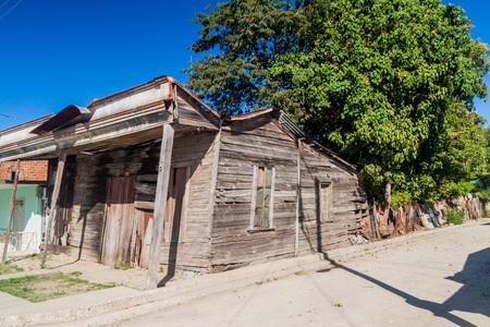 Ruined wooden house in Guantanamo, Cuba