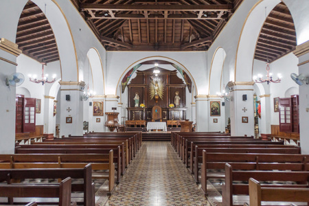 holguin: HOLGUIN,  CUBA - JAN 28, 2016: Interior of Cathedral San Isidoro in Holguin. Editorial