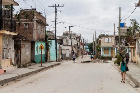 holguin: HOLGUIN, CUBA - JAN 28, 2016: Street scene in Holguin