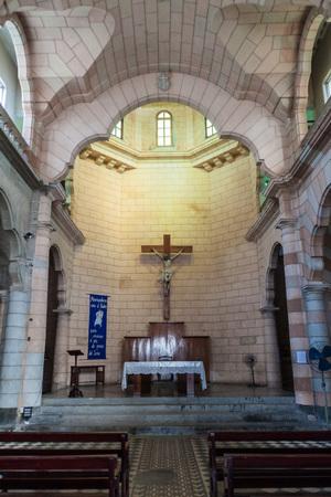 holguin: HOLGUIN, CUBA - JAN 28, 2016: Interior of San Jose church in Holguin, Cuba