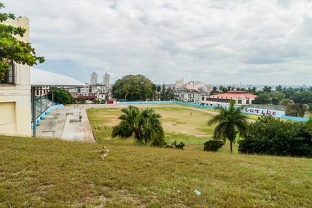 HAVANA, CUBA - FEB 21, 2016: Univesrity stadium in Havana, Cuba