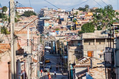 Vista aérea de Santiago de Cuba, Cuba Foto de archivo - 79293382
