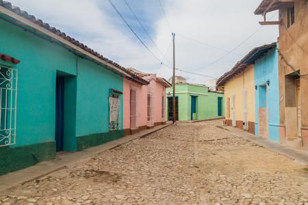 トリニダード、キューバの中心部の古い通り