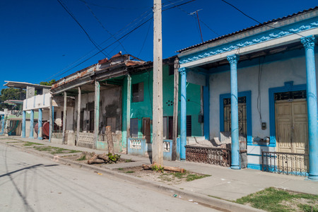Traditional houses in Guantanamo, Cuba