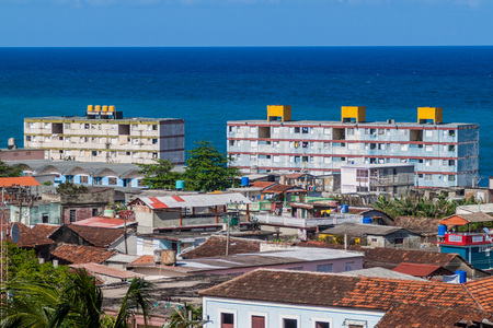 Arial view of Baracoa, Cuba Stock Photo