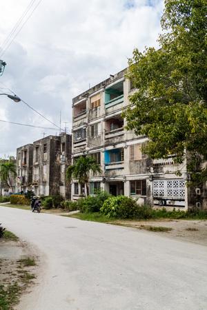 holguin: Dilipitated concrete block of flats in Holguin, Cuba