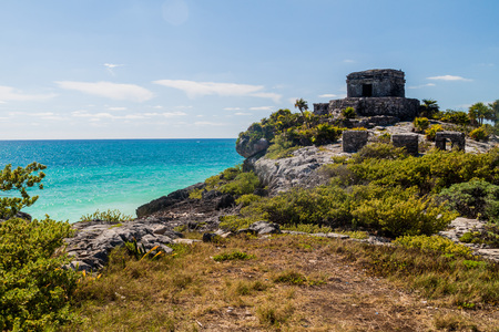 Ruins of the ancient Maya city Tulum, Mexico