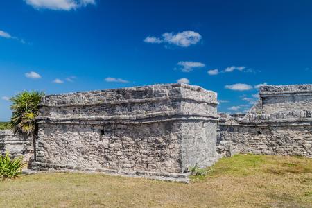 Ruins of the ancient Maya city Tulum, Mexico