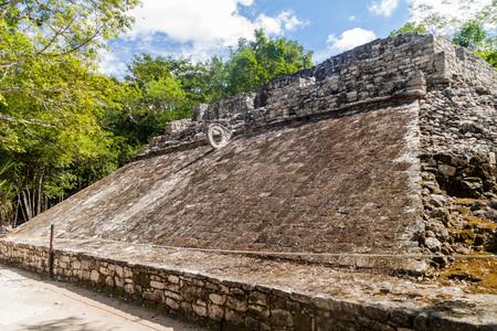 yucatan: Ball court at the ruins of the Mayan city Coba, Mexico