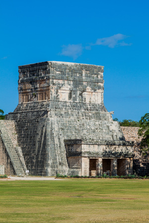 yucatan: The great ball game court in the Mayan archeological site Chichen Itza, Mexico Stock Photo