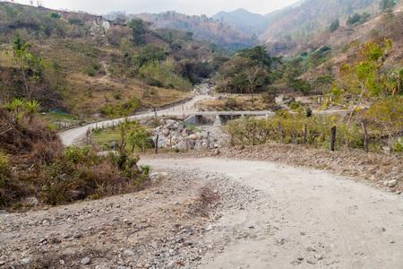 Small rural road near San Sebastian, Honduras