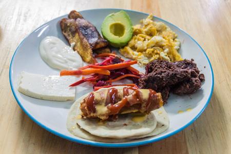 Plato tipico, national dish of Honduras
