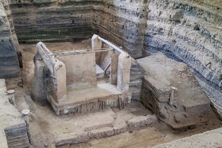 Joya de Ceren archaeological site, El Salvador 免版税图像