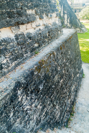 Detail of a wall at the archaeological site Tikal, Guatemala Stock Photo