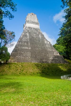 Temple I at the archaelogical site Tikal, Guatemala Stock Photo