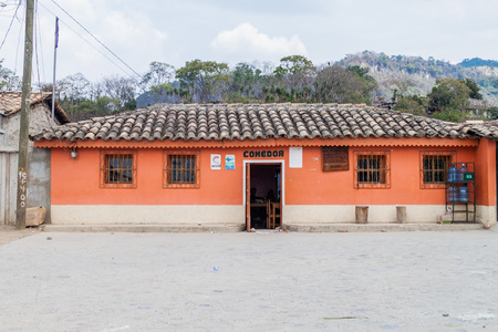 SAN MANUEL DE COLOHETE, HONDURAS - APRIL 15, 2016: Small eatery in San Manuel village.