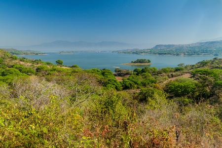 Suchitlan lake in El Salvador