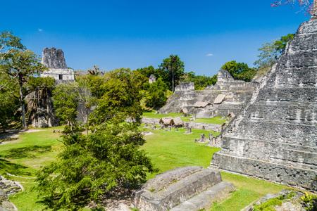 Gran Plaza at the archaeological site Tikal, Guatemala