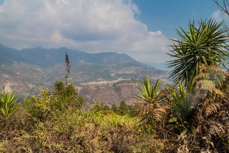 Landscape of Lempira department, Honduras