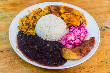 Casado - typical meal in Costa Rica